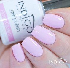 Gel Polish Rose Quartz by @paulinaspassions #nails #nail #pink #indigo #indigonails #pinknails #springnails #pastelnails #pastel