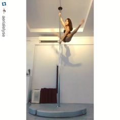 Damn I don't even know what to call this. Right side up to inverted drop? Looks dangerous   What a gorgeous combo! #Repost @aerialelyse ・・・ First training in a week! Had an awesome holiday but it feels great to be back in the studio.  Still feeling heavy from all that holiday feasting.  Worked out this tumbling pass today. Fun!!  #milanpoledancestudio #milanpoledancestudiosg #poledancenation #ig_poledance #unitedbypole #badkittyusa #badkittypride