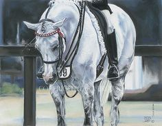 An Original Pastel Painting by Tara Brown.   'Time-Out' has won multiple Equine Art Awards, in international company.