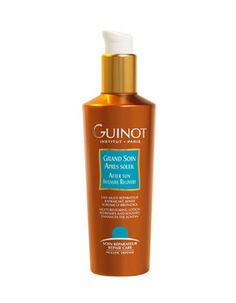 Guinot After Sun Intensive Recovery. This restoring and moisturising lotion soothes skin while restoring freshness and comfort after sun exposure. Calms redness and prolongs tan. After Sun, Recovery, Lotion, Spring, Summer, Summer Time, Lotions, Verano, Healing