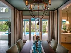 HGTV Smart Home Artistic View : Smart Home : Home & Garden Television. Built by Glenn Layton Homes in Paradise Key South Beach, Jacksonville Beach, Florida. Chandelier Design, Rustic Chandelier, Chandeliers, Cabana, Jacksonville Beach, Bedroom Pictures, Coastal Homes, Coastal Cottage, Home Photo