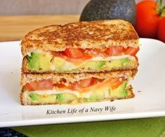 Avocado & Mozzarella Grilled Cheese