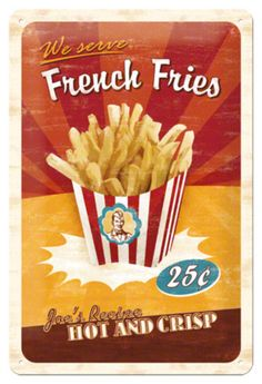 French Fries Blechschild - AllPosters.at