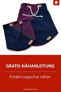 Free sewing instructions: sew children& scarf / loop - Free sewing instructions: sew children& scarf / loop # Nähanleitung # Near makes you ha - Baby Clothes Storage, Sewing Baby Clothes, Designer Baby Clothes, Knitted Baby Clothes, Cute Baby Clothes, Baby Sewing, Free Sewing, Diy Clothes, Winter Girl