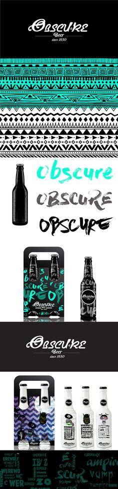 New Obscure beer by Jerson Salazar. Source: Package Inspiration #SFields99… PD