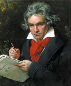 Ludwig van Beethoven (1770-1827) occupies an iconic and pivotal position in music, early works firmly in the Classical style but launching into the Romantic Era.  His 9 symphonies are all very different in style, and have had a strong influence on later composers, as has his piano sonatas and string quartets. He was one of the first independent composers, though he started to go deaf in his 20s.