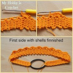 My Hobby Is Crochet: Thread headband- free pattern and tutorial Crochet Diy, Bandeau Crochet, Crochet Headband Pattern, Thread Crochet, Crochet Gifts, Crochet Doilies, Crochet Patterns, Crochet Coaster, Doily Patterns