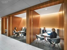 Cave-like Meeting Space for Marriott's Bethesda HQ by Gensler