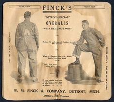"""Union-Made: 1923 Finck's """"Detroit Special"""" Time Book"""