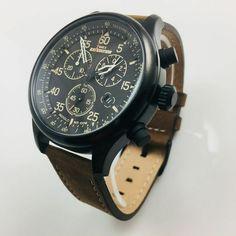 Men's Timex Expedition Field Chronograph Watch T49905 Timex Expedition, Timex Watches, Chronograph, Smart Watch, Quartz, Leather, Accessories, Ebay, Men