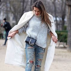 knit & destroyed. Paris. #sinbymannei