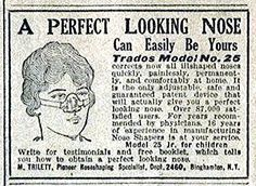 Nose Shapers is at your service! Published in Mother's Home Life newspaper, June 1925.