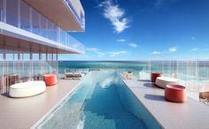 GLASS penthouse pool via Michael Klausmeier : courtesy Rene Gonzalez Architect