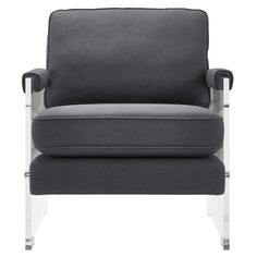Serena Grey Linen/Lucite Chair By TOV Furniture
