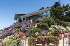 Terraced Ocean View Home Overlooking California's Coast