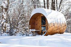 Barrel Sauna Red Cedar Front Porch Electric Heater Included 8 Feet Fits 4 2 | eBay