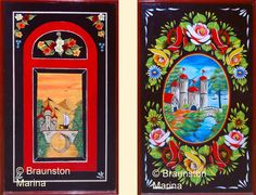 Boat Decorations, Roses and Castles, Collings, Buckby Can, water can Castle Painting, Boat Painting, Painting On Wood, Canal Boat Art, Different Forms Of Art, Truck Art, Narrowboat, Painted Books, Learn To Paint