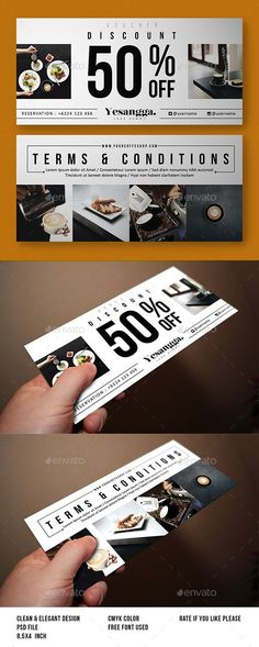 Restaurant Voucher Template #design Download: http://graphicriver.net/item/restaurant-voucher/12173550?ref=ksioks