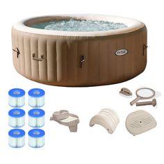 3ed6878b6b8fde 9. Intex Pure Spa 4-Person Inflatable Portable Hot Tub Intex Hot Tub,