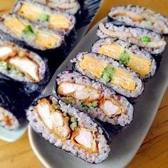 弁当2014.10.12|レシピブログ Japanese Sandwich, Japanese Food, Cute Food, Yummy Food, Onigirazu, Asian Recipes, Healthy Recipes, Food Concept, Food Design