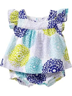 Printed Flutter-Sleeve Dresses for Baby Product Image