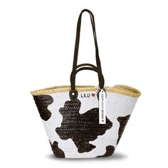 Handbemalte Korbtasche, geflochten aus Osier Palmblatt.