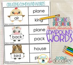 Teacher Worksheets For Kids Word Spring Coloring Page  Educational Fun  Pinterest Road Safety Worksheets Word with Optical Illusions Worksheet Word Farm Animals And Compound Words  Quick And Easy Worksheet To Practice  Combining Words To Make Vertebrate Groups Worksheet Word