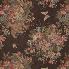 Bannerman Floral – Chestnut - Florals - Fabric - Products - Ralph Lauren Home - RalphLaurenHome.com