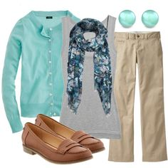 A fashion look from August 2012 featuring J.Crew cardigans, Inhabit tops and Old Navy pants. Browse and shop related looks.