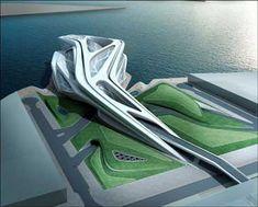 Abu Dhabi Performing Arts Centre, Abu Dhabi, United Arab Emirates by Zaha Hadid.