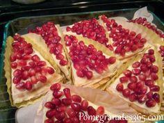 Pomegranate crepe cake, Gâteau de crêpes a la grenade