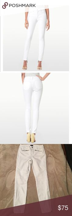 NYDJ • Skinny• WhiteJeans• Size 2 NYDJ SKINNY LEGGING WITH ZIPPER DETAIL SIZE 2 Classic Lift tuck technology  Inseam: 26 1/2 The inseam was measured from the crotch seam to the bottom of the leg on the inside seam.   Purchased from Nordstrom 📊 Not Your daughter Jeans Jeans Skinny