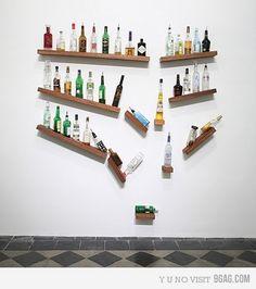 clever alcohol shelf