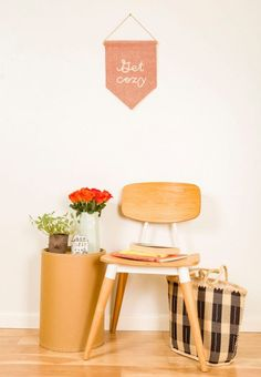 12 Etsy Fall Decor Essentials to Harness Your Hygge via Brit + Co Getting Cozy, Hygge, Banners, Home Accessories, Fall Decor, Ikea, Chair, Handmade Gifts, Room
