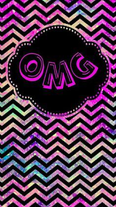 OMG galaxy chevron wallpaper I made for the app CocoPPa.