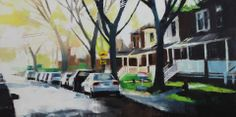 Oxford Ave. Fall C. Jeremy Price (2013) Oil on Canvas 18in × 36in × 1in Current Bid: $950  #montreal #art  ARTBOMB: BUY WHAT YOU LOVE
