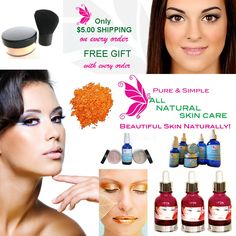 ONLY $5 SHIPPING AND FREE GIFT WITH EVERY ORDER!  www.allnaturalskincare.com