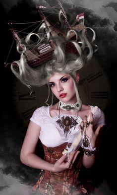 90fc0cc53a009 A sailor's bride by Drusilla-du-Charme Steampunk Clothing, Steampunk Dress,  Steampunk