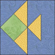 Block of Day for July 29, 2016 - Tropical Fish-foundation/paper piecing-The pattern may be downloaded until: Monday, August 8, 2016.