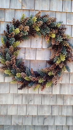 Extra Large Olive Green Rustic Brown Pinecone Wreath by scarletsmile on Etsy https://www.etsy.com/listing/232741900/extra-large-olive-green-rustic-brown