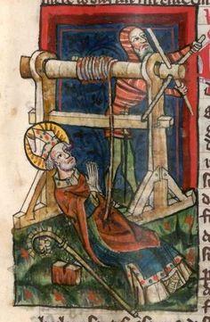 Jacobus : Legenda sanctorum aurea, verdeutscht in elsässischer Mundart [u.a.] 1362  Cgm 6 Folio 99
