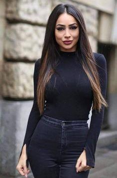 Black jeans makeup looks Look Fashion, Fashion Beauty, Girl Fashion, Fashion Outfits, Womens Fashion, Mode Outfits, Casual Outfits, Mode Turban, Fall Winter Outfits