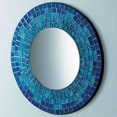 espelhos decorados com mosaicos - Pesquisa Google
