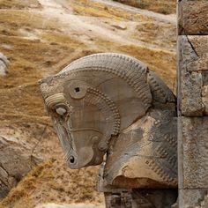 Gallery and Reconstruction of the Ancient Persepolis (aka. Throne of Jamshid), The ceremonial capital of the Achaemenian Persian Empire. Greco Persian Wars, Shiraz Iran, Sculptures, Lion Sculpture, Cradle Of Civilization, Achaemenid, Ancient Persian, Persian Culture, Western World
