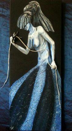 Atropo Acrilico su tela con particolari in 3D - Francesca Ruggeri
