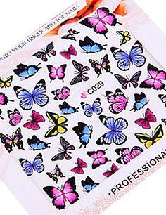 5PCS Ultrathin Water Transfer Printing Nail Art Stickers Cut... – USD $ 3.09