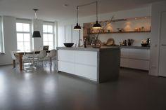 Rustieke Woonkeuken Gietvloer : Beste afbeeldingen van designgietvloer in de keuken amsterdam