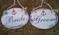 nautical bride and groom chair hangers