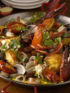 Bobby Flay's Paella.  Its a great recipe!