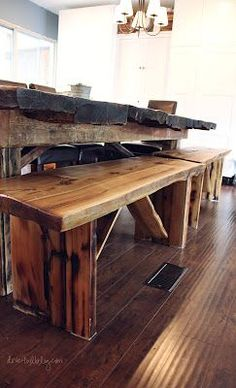 Handmade Homemade Reclaimed Wood Dining Benches Made My Wonderful Father In  Law!